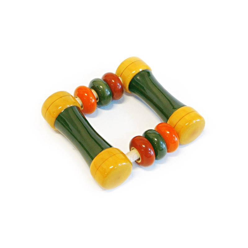 Hand-Crafted Wooden Kit Kit Rattle Toy (Multi-Colour)