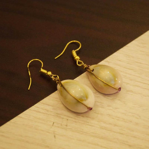Kodi with Pink Beads Earrings Handcrafted by Women Artisans of Varanasi