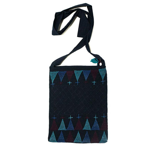 Mirror Embellished Sling Bag with Lambani Hand-Embroidery - Blue (LSP-1)