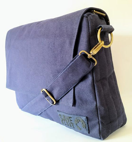 Cotton Canvas Laptop Messenger Bag