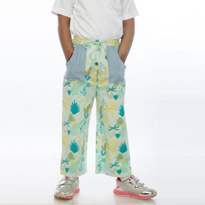 Leafy Forest Girls' Trousers made of Organic Cotton