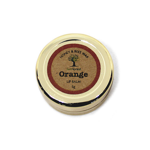 Natural Beeswax and Orange Lip Balm
