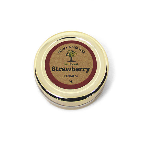 Natural Beeswax and Strawberry Lip Balm