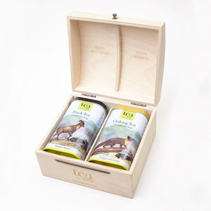 Customized Gift Box with Choice of Tea - Tea Bags/ Loose Leaves (Set of 2)