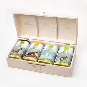 Customized Gift Box with Choice of Tea - Tea Bags/ Loose Leaves (Set of 4)