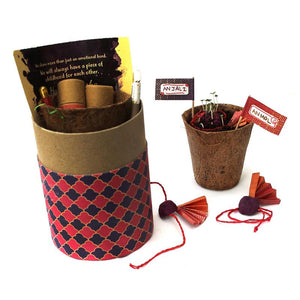 Eco-Friendly Luxury Rakhi Kit with 2 Plantable Seed Adult Rakhis, a Plantable Seed Pen and Pencil