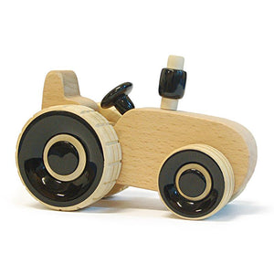 Ippu the Tractor -  Hand-Crafted Wooden Push Toy