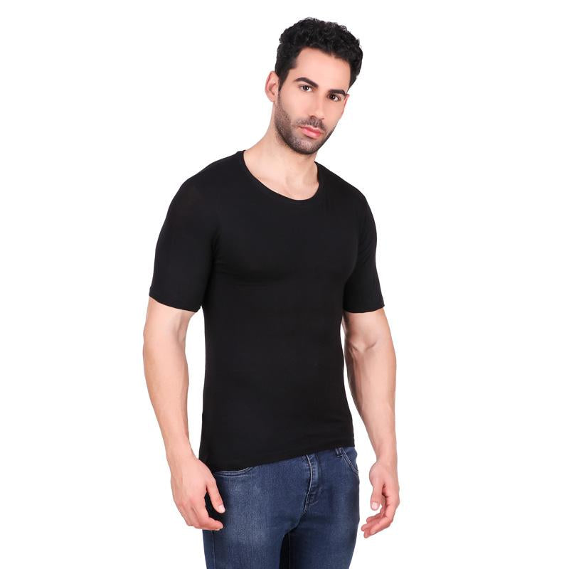 Men's Round Neck Bamboo T-shirt - Black