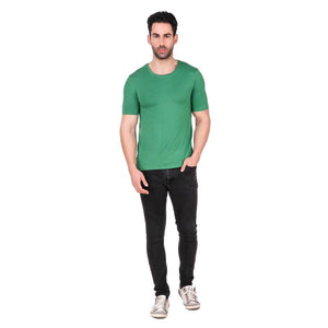 Men's Round Neck Bamboo T-shirt - Green