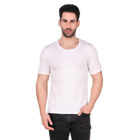 Men's Round Neck Bamboo T-Shirt - White