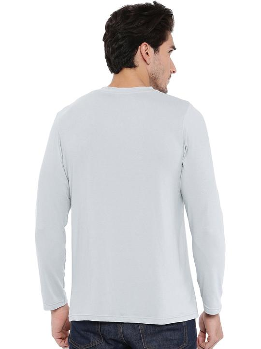 Men's Henley Neck Bamboo Tee - Harbour Mist