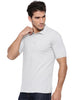 Men's Solid Polo Neck Bamboo Tee - Harbour Mist (AMCT004M)