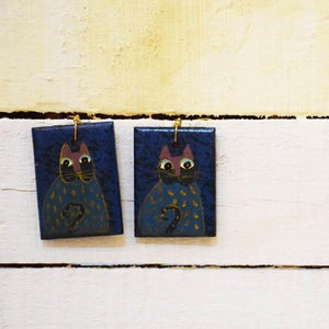 Messy Cat Earrings Handcrafted by Women Artisans of Varanasi
