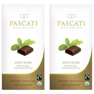 Organic Mint Dark Chocolate, 75g (Pack of 2)