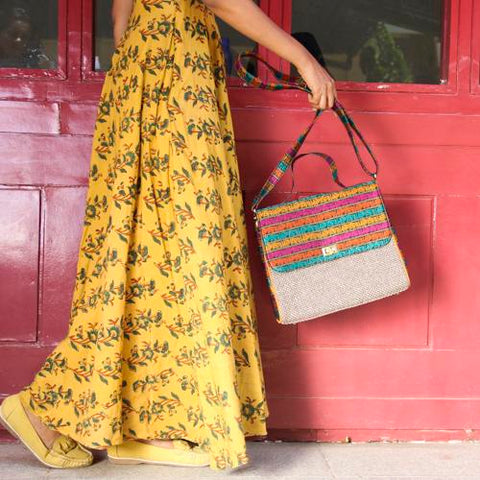 Mor and Hathi Khana Jute Bag