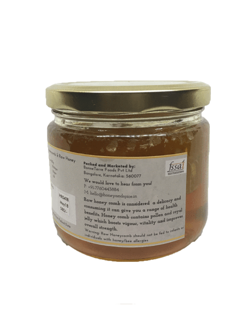 Honey and Spice Honeycomb in Honey (500gms)
