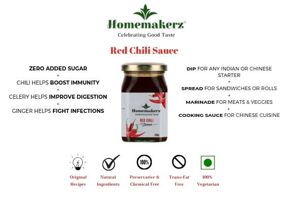 Natural, Preservative-Free Red Chili Sauce