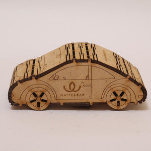 Natural Odour Absorbent for Cars - Made from Activated Carbon (CarShaped)- Beige