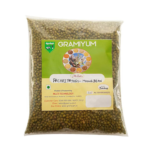 Naturally Grown, Pesticide-Free Whole Moong Beans