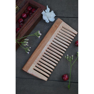 Neem Wood Hair Comb - Small