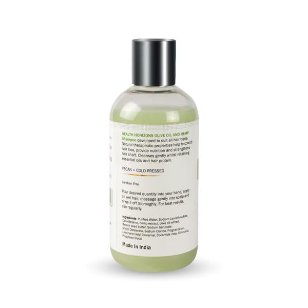 Vegan Olive Oil and Hemp Shampoo, 200ml