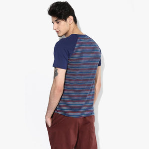 Organic Cotton Baseball Stripe Men's T-shirt