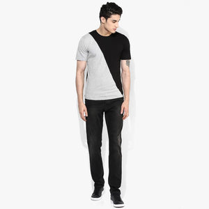 Organic Cotton Men's Monochrome Split T-Shirt