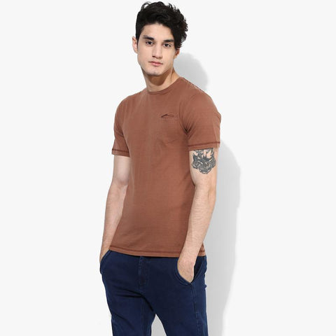 Organic Cotton Men's T-Shirt With Pocket - Copper