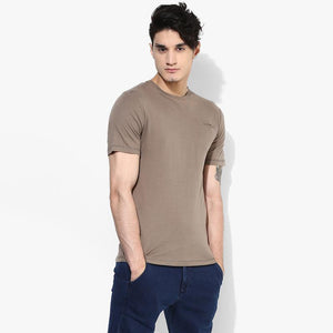 Organic Cotton Men's T-Shirt with Pocket - Stone