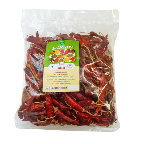 Naturally grown, Pesticide-Free Red Dry Chillis, 250g