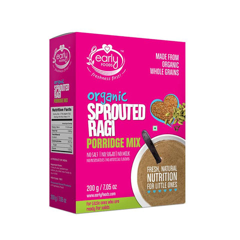 Sprouted Ragi Porridge Mix (Plain), 200g