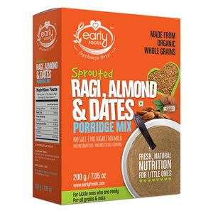 Sprouted Ragi, Almond & Date Porridge Mix, 200g