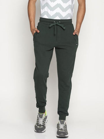 Organic Cotton Men's Joggers - Olive Green