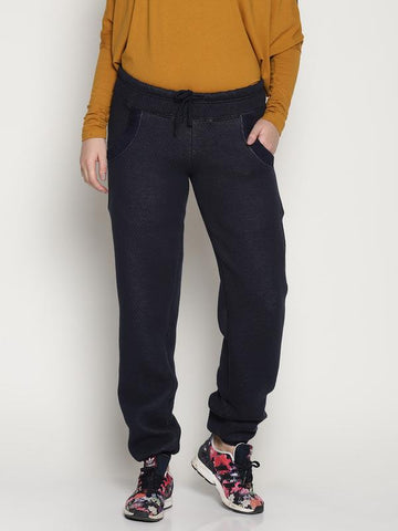 Organic Cotton Women's Joggers - Navy Blue