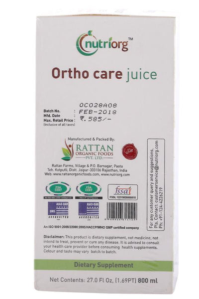 Ortho  Care Juice with ayurvedic ingredients - 500ml.
