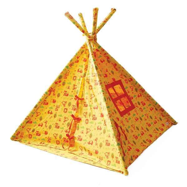 76d25d9543c47 Organic Cotton Jungle Safari Indoor  Outdoor Teepee Tent for Kids ...