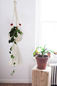 Macrame Basket Indoor Outdoor Plant Hanger Handmade By Women Artisans