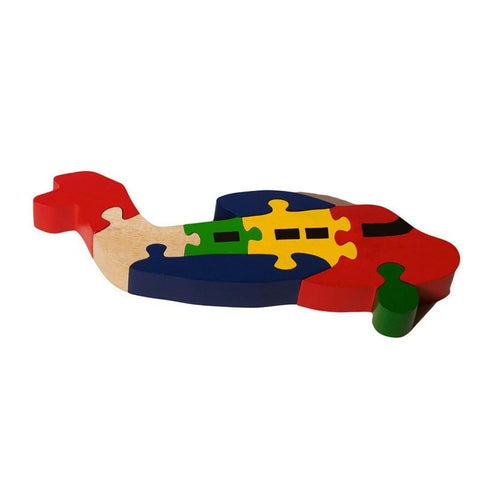 Wooden Aeroplane 3D Chunky 8-Piece Jigsaw Puzzle - 100% Safe, Natural & Eco-friendly