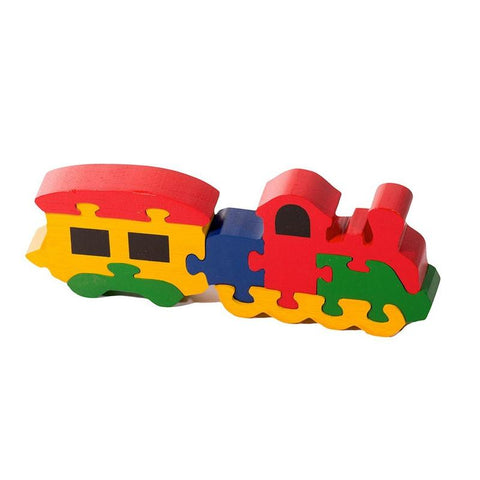 Wooden Train Wagon 7-Piece Jigsaw Puzzle - 100% Safe, Natural & Eco-friendly Shumee