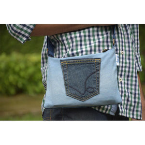 Pace Bag made with Upcycled Jeans