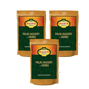 Palm Jaggery with Herbs with Natural Jaggery ( Pack of 3 ), 150 gm
