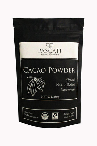 Organic and Fairtrade Unsweetened Cacao Powder, 250g