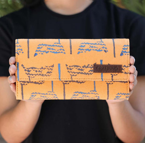 Handcrafted Peach Eyes Wallet