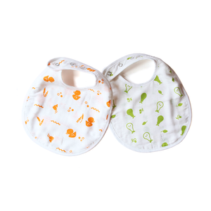 Organic Muslin Bibs - Duck and Pear (Set of 2)