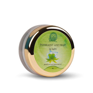 Vegan Peppermint and Hemp Lip Balm, 8g
