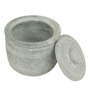 Soapstone Thayir Chatti/ Curd Pot/ Pickle Pot