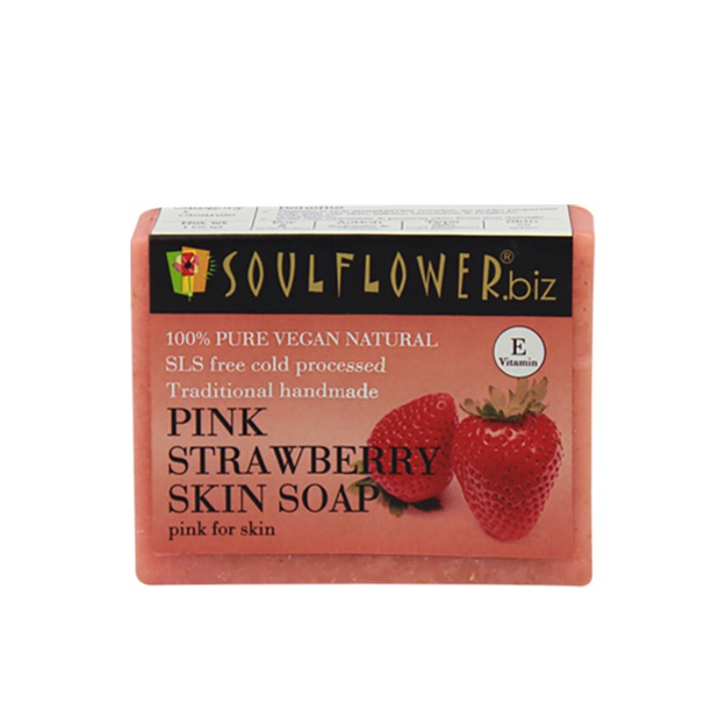 Soulflower Handmade Soap, Strawberry, 150g