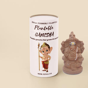Plantable Seed Clay Ganesha ( with Spinach Seeds)