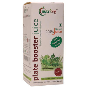 Plate Booster Juice with natural ingredients -  500ml.