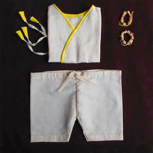Pure Cotton Handloom Clothes And Accessories Combo For Babies - Box 4 (6-12 Months)